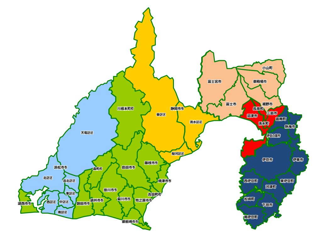 【移住希望者向け】静岡県東部の暮らし情報「各地域のオーバービュー」